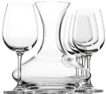 Decanter with 4 wine glasses (750 ml / 25.5 oz + 350 ml / 15.25 oz)